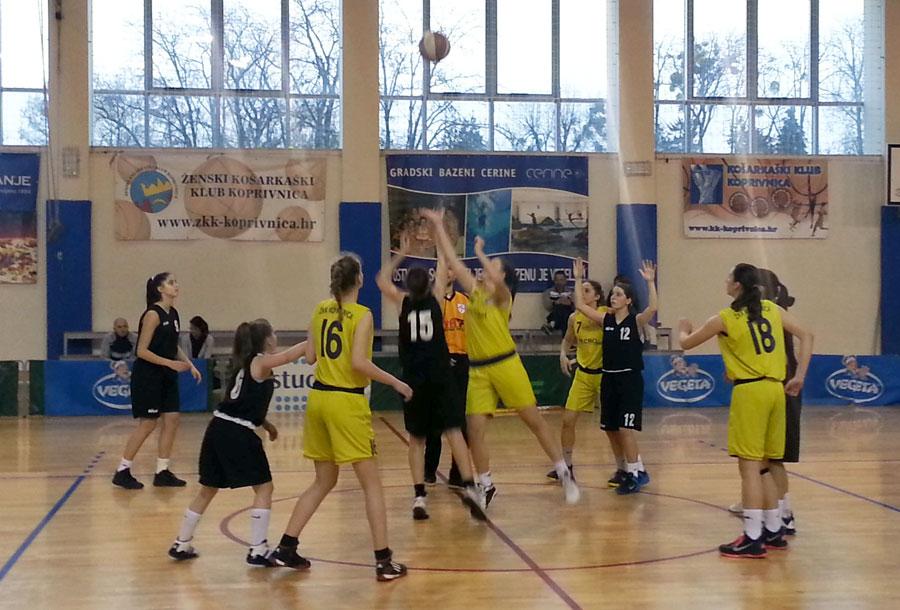 Detalj iz igre // Foto: ŽKK Koprivnica