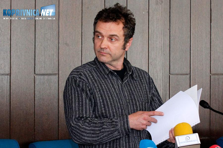 Autor idejnog rješenja spomenika Alem Korkut // Foto: Koprivnica.net