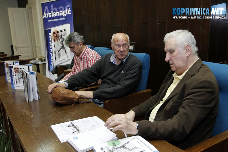 Goran Mrđen, Abas Arslanagić i Ivo Čičin-Mašansker na promociji // Foto: Koprivnica.net