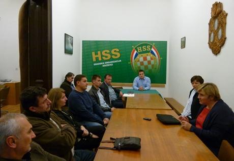 Sastanak križevalkih članova HSS-a s dr. Željkom Markić // Foto: HSS
