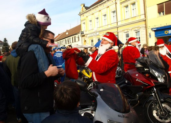 Moto mrazovi u centru Koprivnice // Foto: www.koprivnica.hr