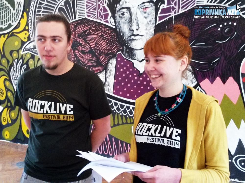 Denis Košćak (Rocklive) i Andreja Salajec (Mamuze) na konferenciji za novinare u Kampusu // Foto: Koprivnica.net