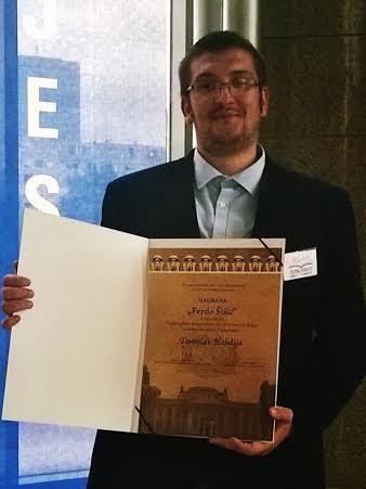 Tomislav Habdija nagradu primio u sklopu Kliofesta // Privatna arhiva