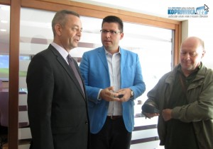 Župan Darko Koren i direktor RCGO Piškornica Mladen Jozinović u društvu novinara RKC-a Željka Dragača // Foto: Koprivnica.net