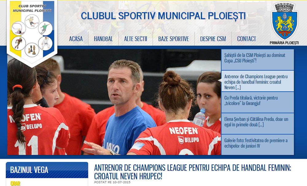 Vijest o angažmanu novog trenera na stranicama Ploiestija // Foto: screenshot
