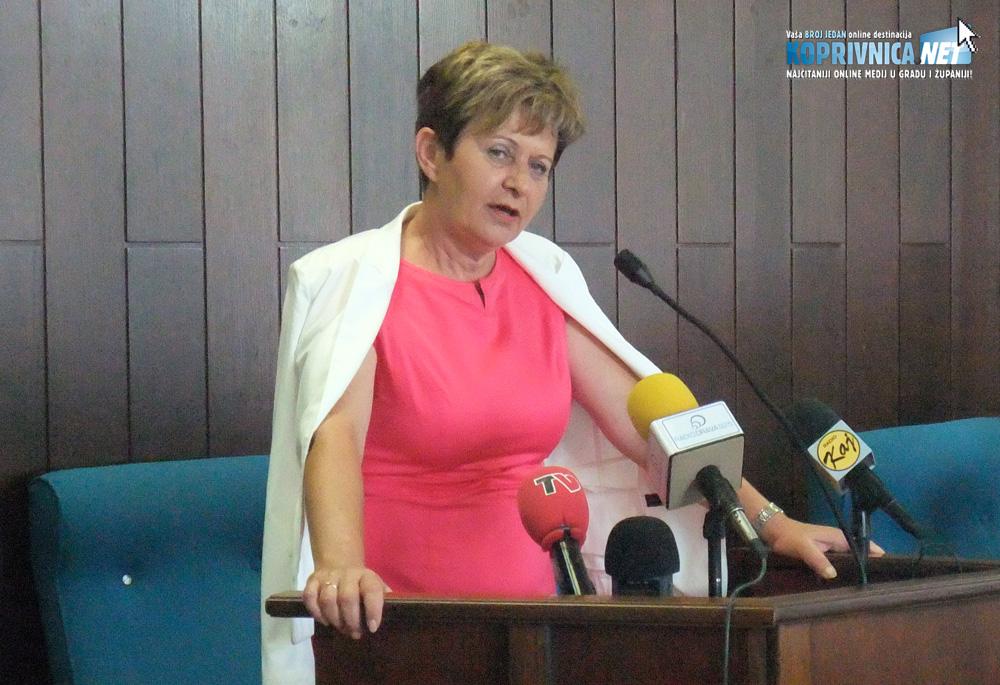 Gradonačelnica Koprivnice Vesna Želježnjak tražila je i dobila jednoglasnu odluku o Piškornici // Foto: Koprivnica.net