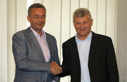 Župan Darko Koren i gradonačelnik Križevaca Branko Hrg // Foto: www.kckzz.hr