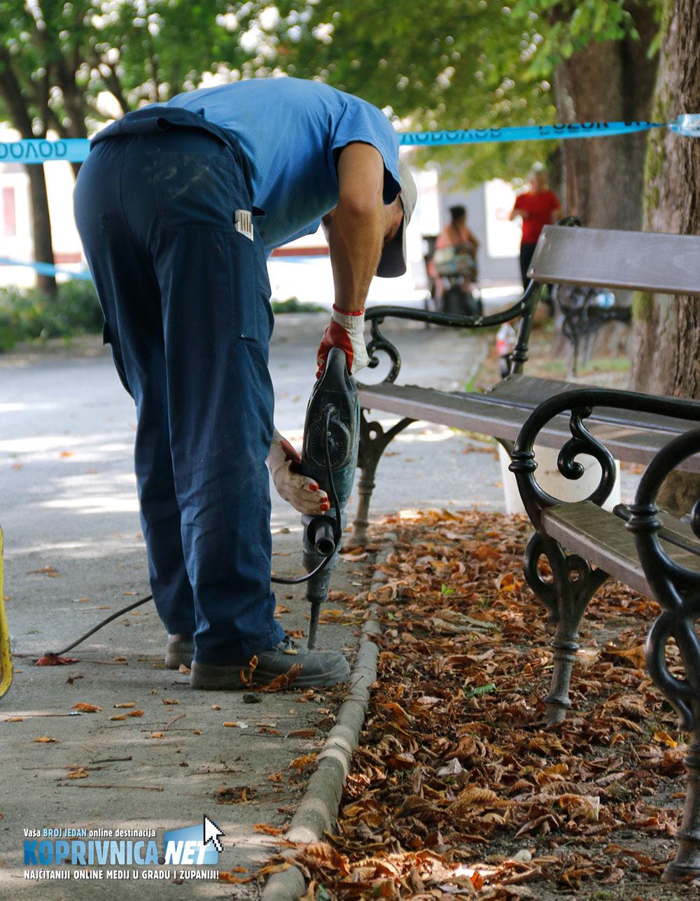 Radovi na stazama uz park bit će dovršeni kroz desetak dana // Foto: Mario Kos