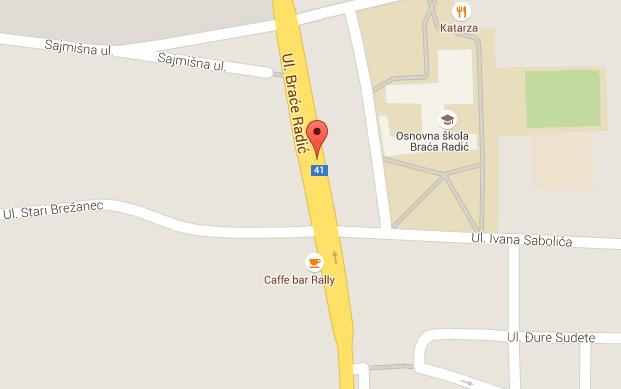 Lokacija opasnog raskrižja // Izvor: Google Maps