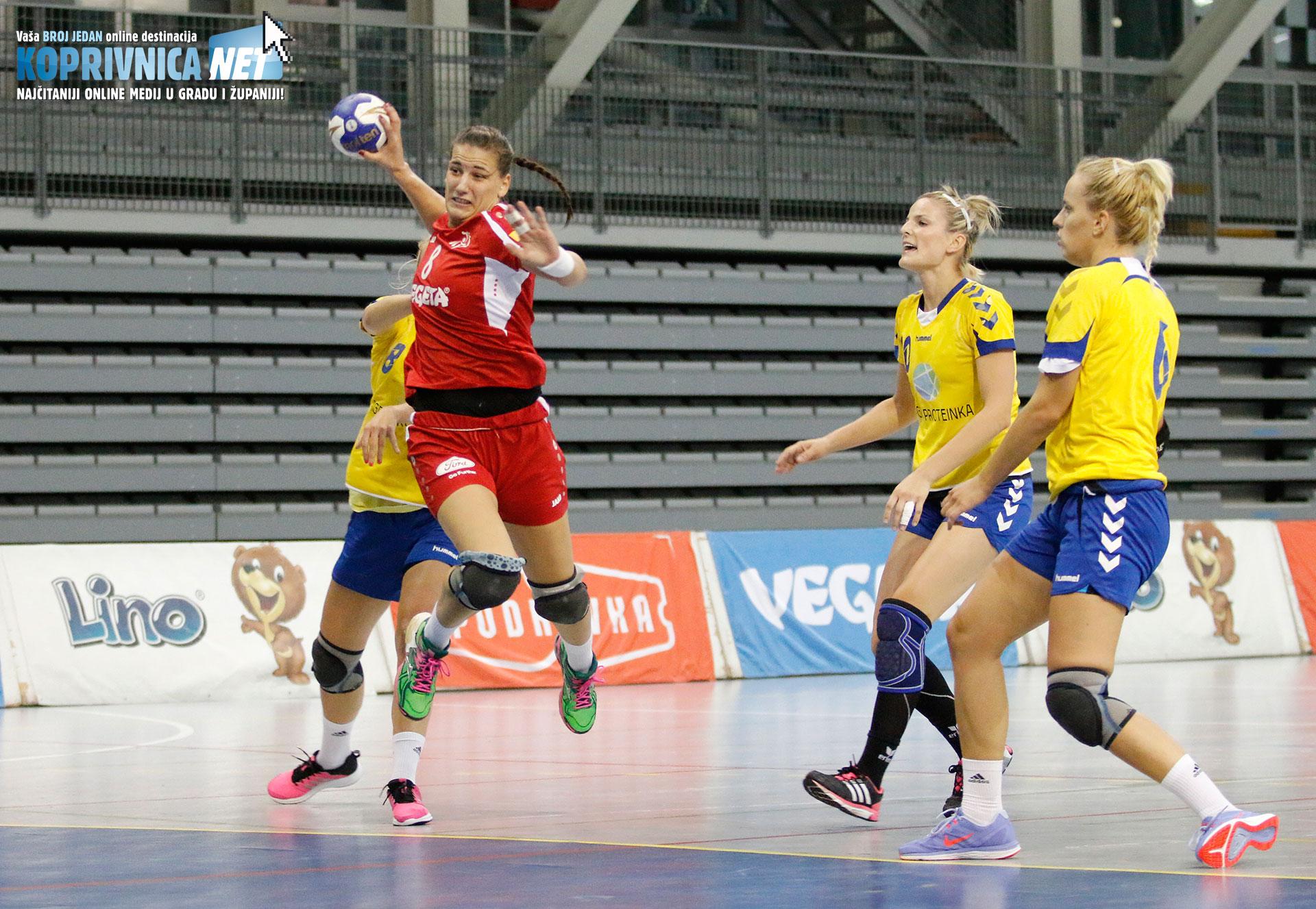 Selena Milošević dirigirala je Podravkinom igrom i postigla pet pogodaka // Foto: Mario Kos