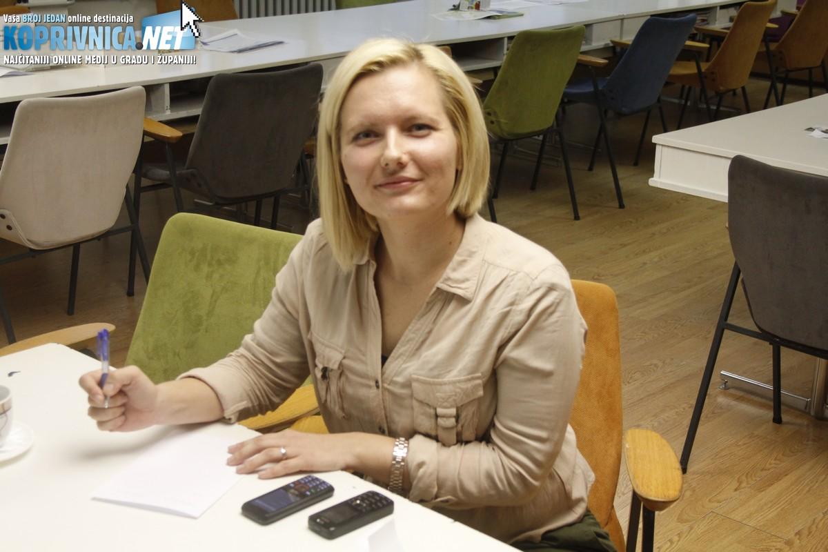 Maja Blažek Novosel, sindikalna povjerenica u koprivničkoj Srednjoj školi // Foto: Zvonimir Markač