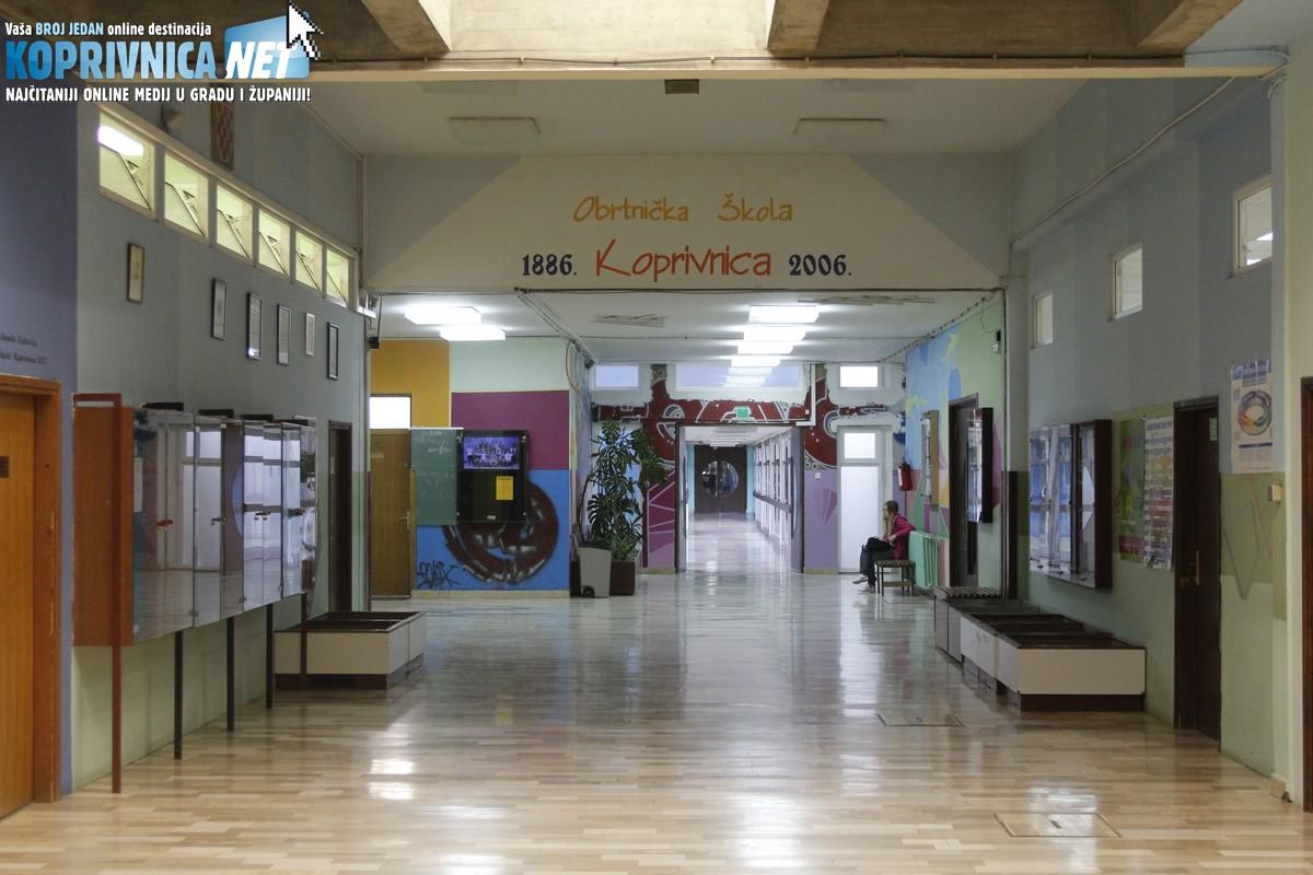 U koprivničkoj Obrtničkoj školi nastava se danas uredno održavala // Foto: Koprivnica.net