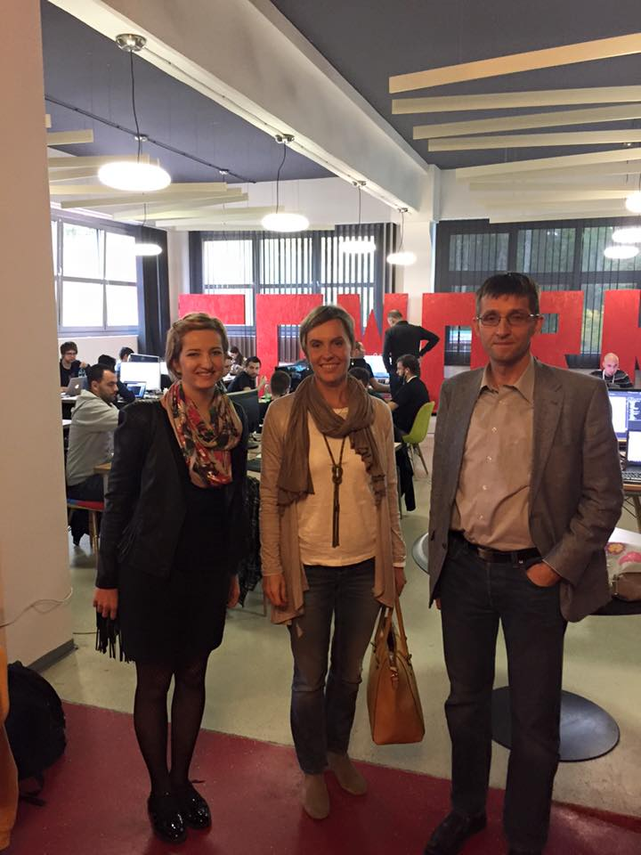 Stručna suradnica za EU projekte i Mateja Horvat i direktorica Koprivničkog poduzetnika Martina Golčić u posjetu Hackathonu