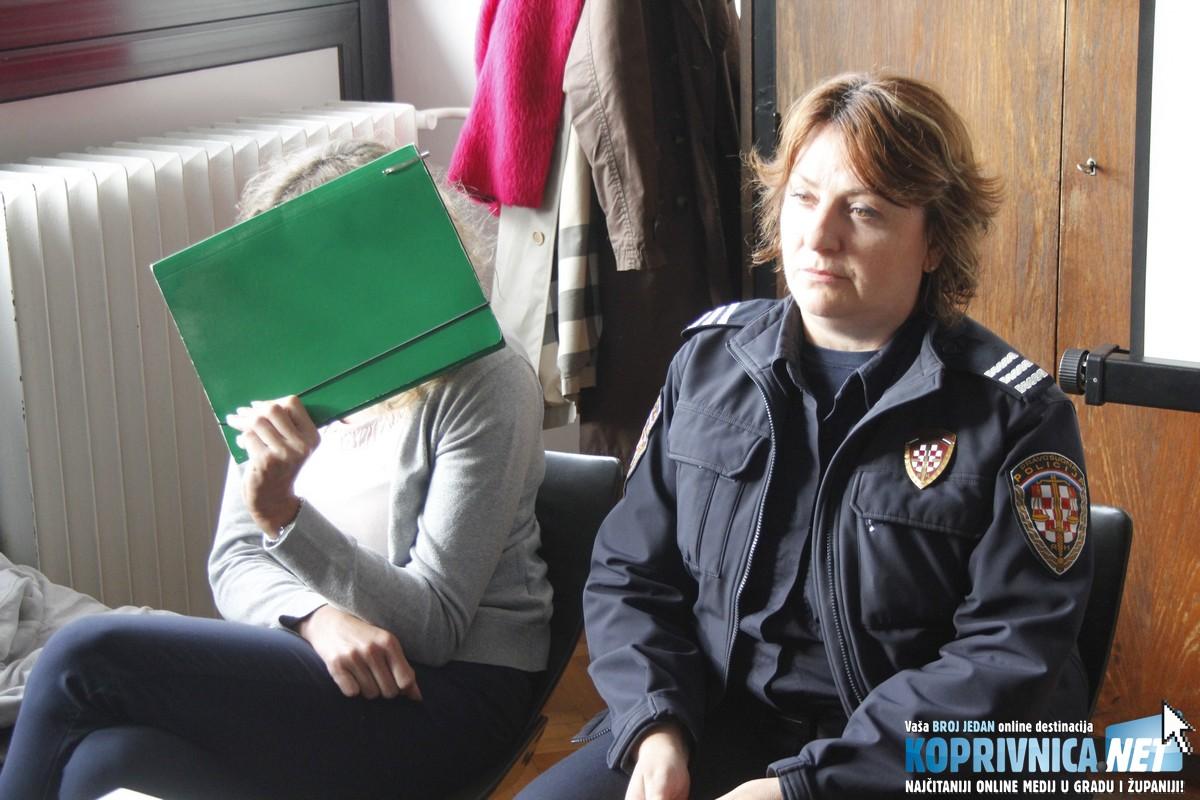 Valentina Brunec, kasnije se vidjelo, bila je zaplakana lica na početku suđenja u Varaždinu // Foto: Zvonimir Markač