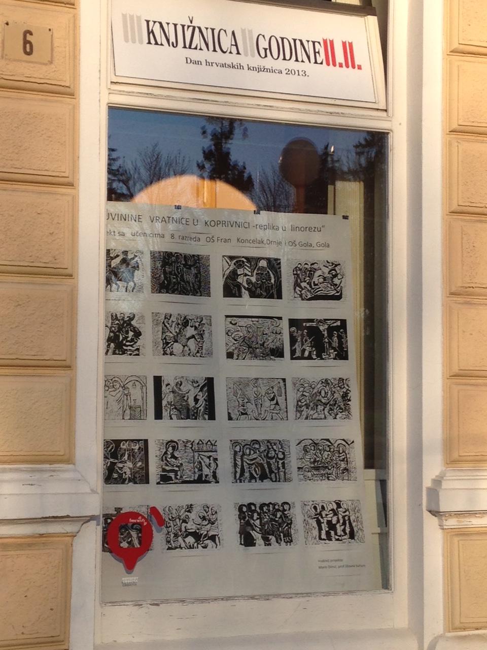 Replika u linorezu // Foto: OŠ Fran Koncelak Drnje