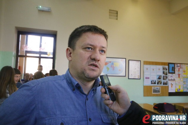 Igor Brkić, ravnatelj Osnovne škole Vladimira Nazora Križevci // Foto: Matija Gudlin