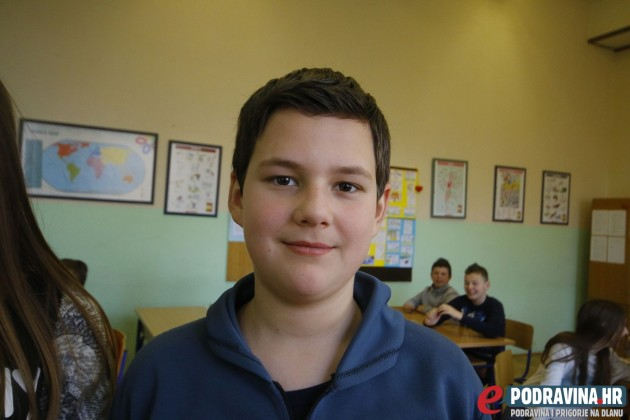 Karlo Pišković, učenik 6.d. razreda Osnovne škole Vladimira Nazora Križevci // Foto: Matija Gudlin