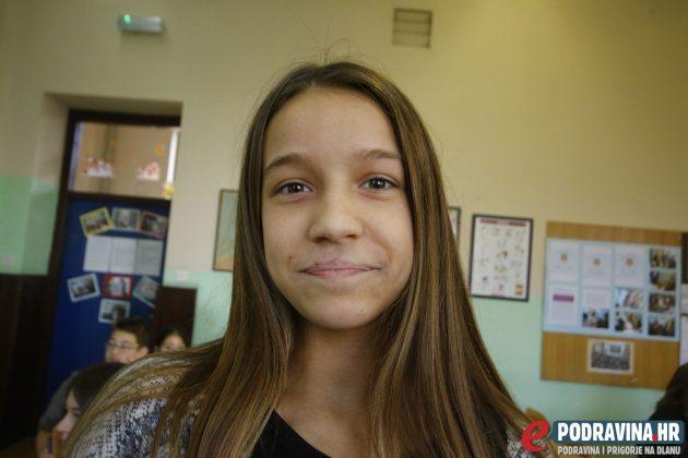 Jana Kantar, učenica 6.d. razreda Osnovne škole Vladimira Nazora Križevci // Foto: Matija Gudlin
