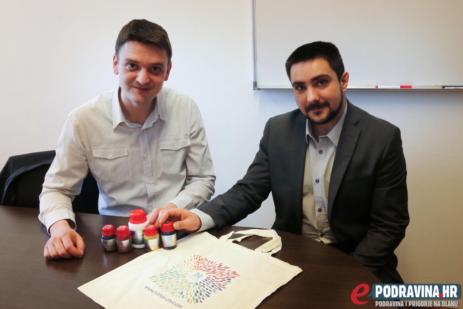 Saša i Zoran uz proizvode Nanodiy tehnologije // Foto: Kristina Kos