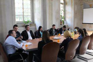 Gradonačelnik je primio srednjoškolce // Foto: Ludbreg.hr