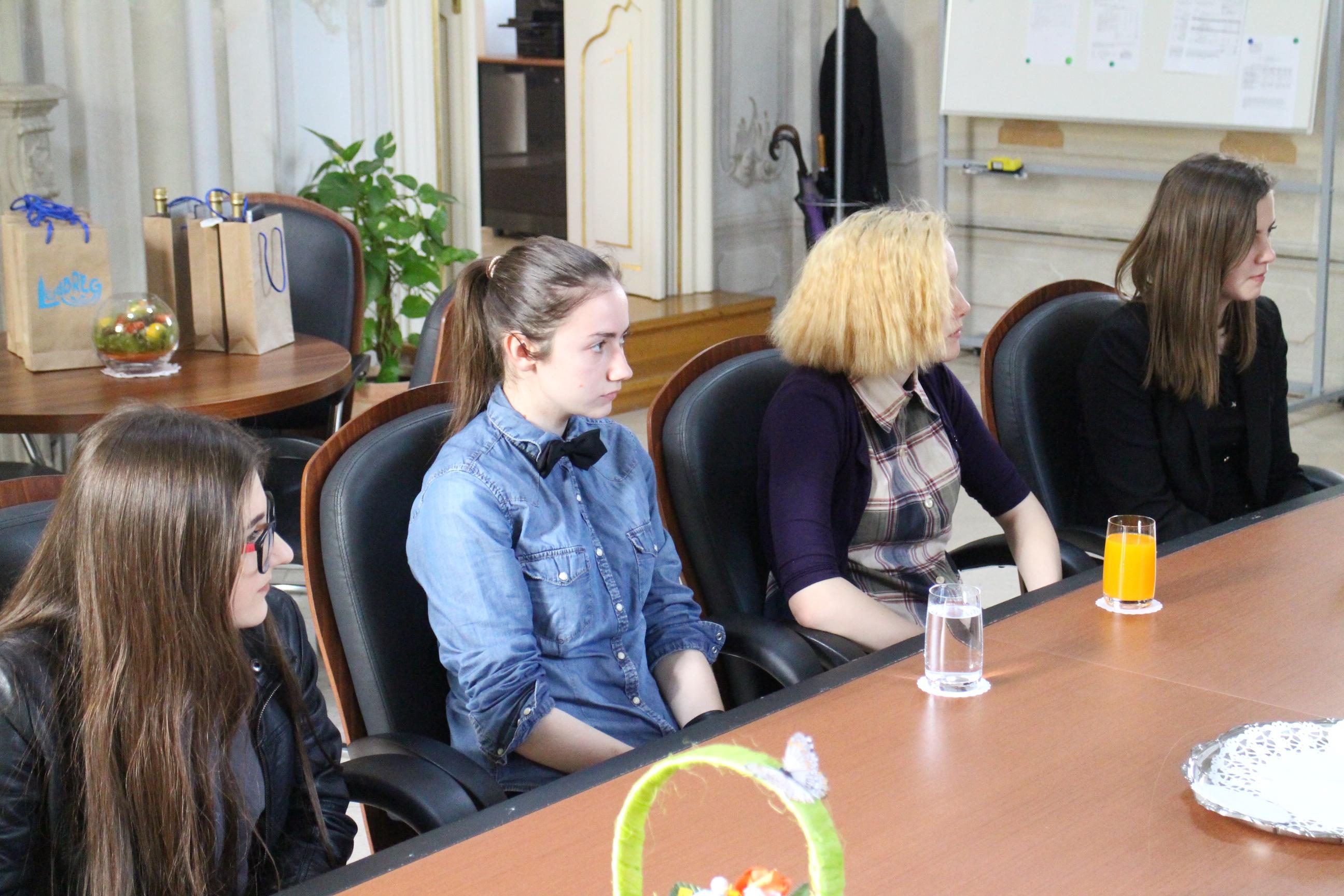 Srednjoškolci u posjetu gradonačelniku // Foto: Ludbreg.hr