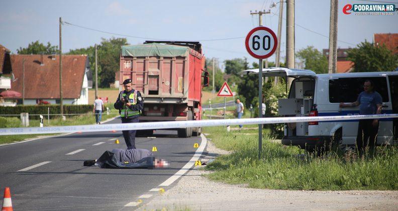 mjesta nesreće - Izgubio život pod kotačem kamiona // Foto: Mario ...