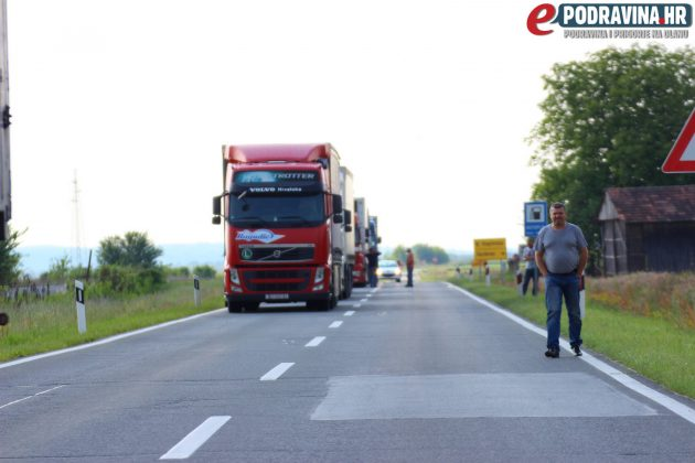 Prometna nesreća u Đurđevcu // Foto: Matija Gudlin