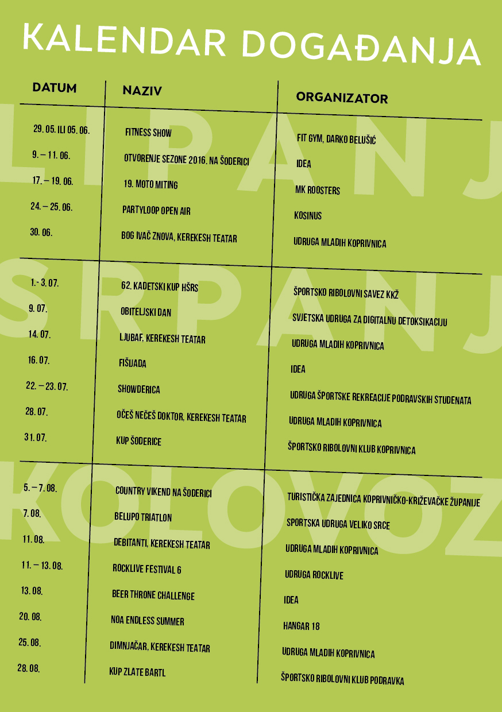 Program Ljeto na Šoderici