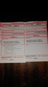 Račun za komunalne usluge