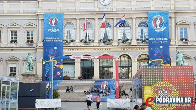 Euro 2016 Saint-Etienn - navijanje prije utakmice protiv Češke
