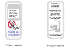 Letak za prevenciju korištenja mobitela u vožnji // Foto: PU koprivničko-križevačka