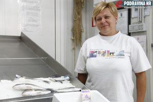 Ines Herceg iz ribarnice nema dobre prognoze za tržnicu // Foto: Matija Gudlin