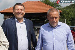Milan Bandić i Željko Lacković u Đurđevcu // Foto: Matija Gudlin