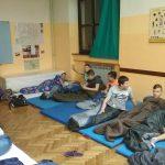 """Učenici prespavali u školi // FOTO: Skype-A-Thon u Križevcima, FOTO: OŠ """"Vladimir Nazor"""