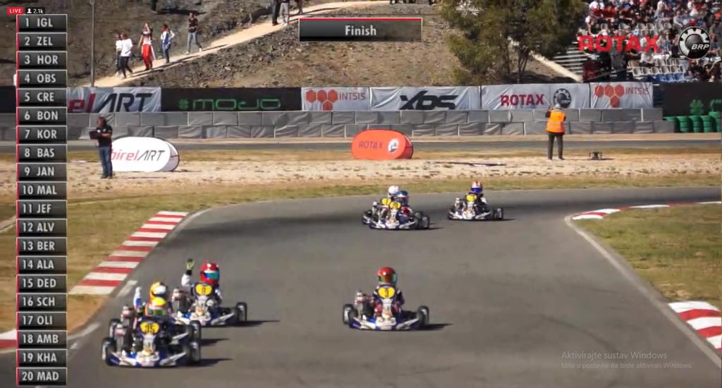 Zelenko drugi na svijetu // Screenshot official stream Rotax Championship