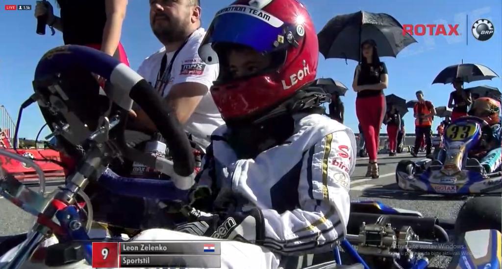 Leon Zelenko na startu // Screenshot official stream Rotax Championship