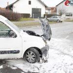 Zapaljenje auta kod HAK-a // Foto: Jurica Karan