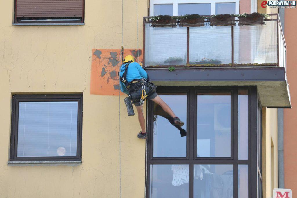 Alpinist, popravak zgrade 19.09.2019. // Foto: Matija Gudlin