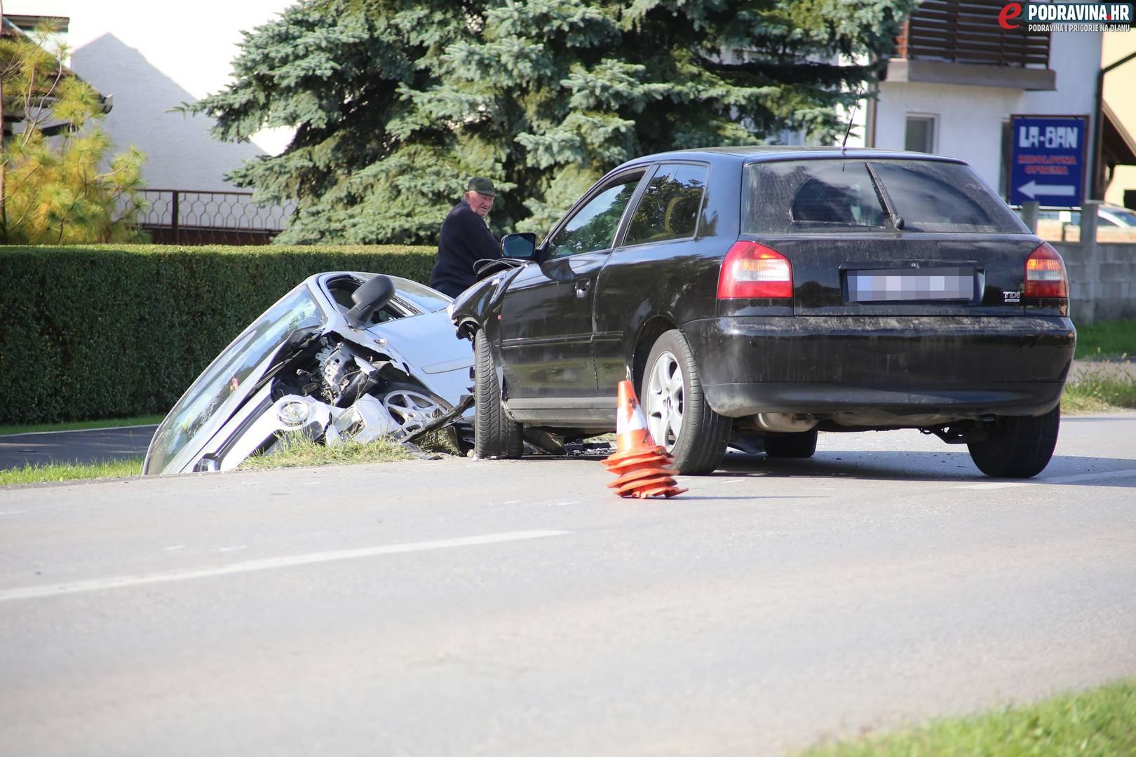Prometna nesreća u Peterancu // Foto: Matija Gudlin