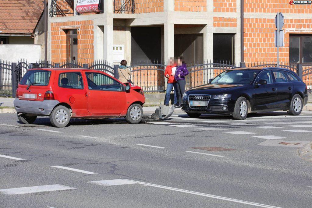 Prometna nesreća Ulica Braće Radić - Ivana Sabolića // Foto: Ivan Brkić
