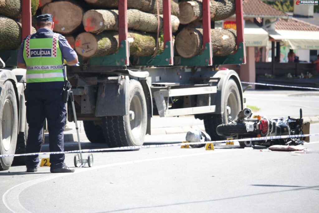 Prometna nesreća, motociklist u Virju // Foto: Jurica Karan
