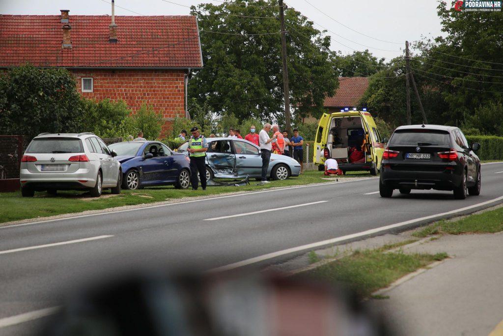 Prometna nesreća, Štaglinec // Foto: Matija Gudlin