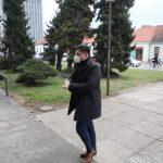 Mladen Jozinović ispred zgrade Županijskog suda u Varaždinu // Foto: Ivan Balija