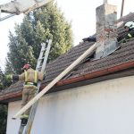 Rušenje dimnjaka oštećenih potresom
